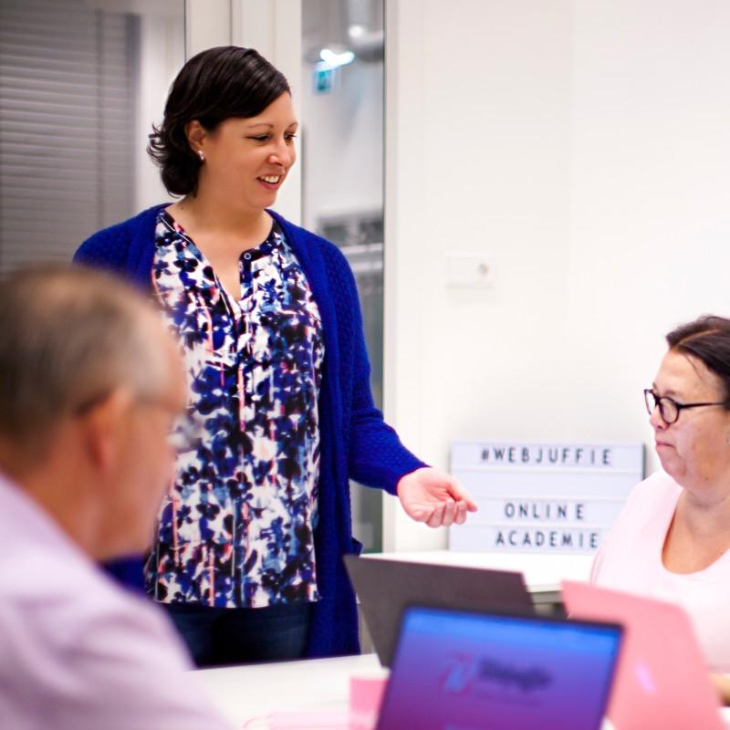 Webjuffie - training online academie maken