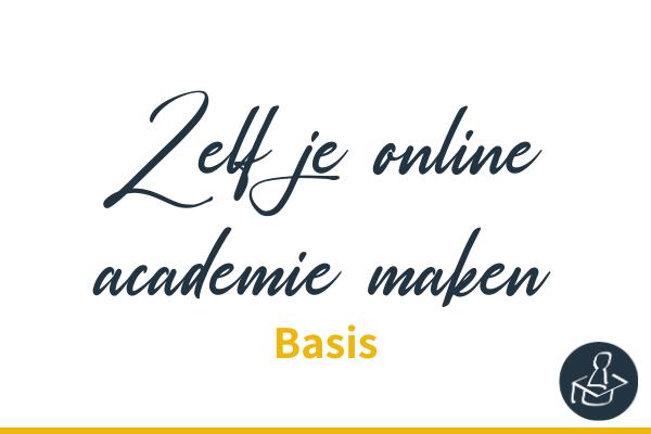 Zelf je online academie maken met Learndash basis